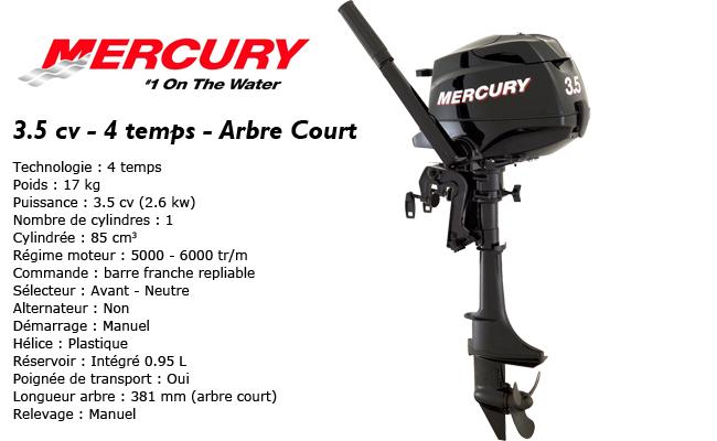 présentation du moteur hors-bord mercury 3.5 cv