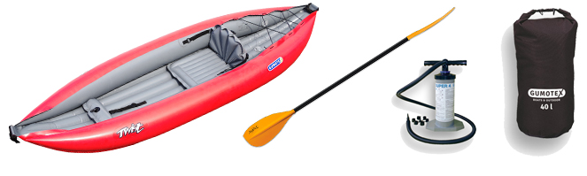 kayak gumotex twist 1 - package complet