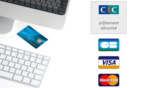 logo CIC avec cartes de paiements