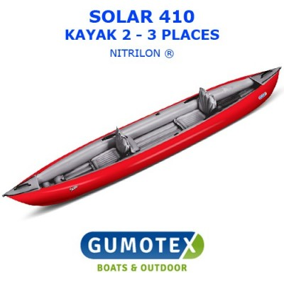 Kayak Gumotex Solar - Modèle rouge
