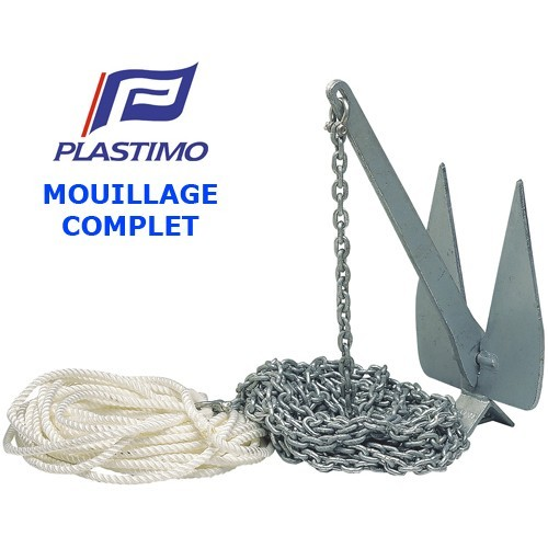 Mouillage complet Plastimo Britany - Ancre + Chaîne + Cordage
