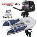 Annexe Plastimo Raid 240 et moteur Mercury 4 cv
