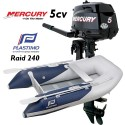 Annexe Plastimo Raid 240 et moteur Mercury 5 cv