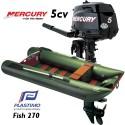 Annexe Plastimo Fish 270 et moteur Mercury 5 cv