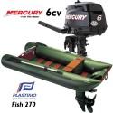 Annexe Plastimo Fish 270 et moteur Mercury 6 cv