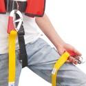 Longe de harnais Plastimo - Modèle Enfant 1m50 avec 2 mousquetons double sécurité