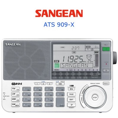 Radio BLU Sangean ATS 909-X - Face avant