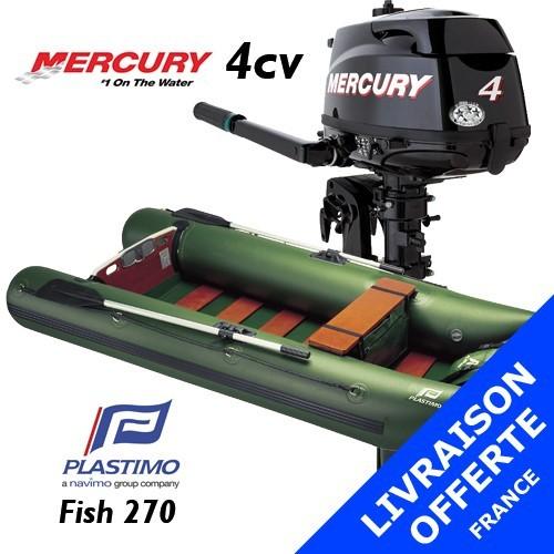 Annexe Plastimo Fish 270 et moteur Mercury 4 cv - Livraison offerte