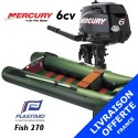 Annexe Plastimo Fish 270 et moteur Mercury 6 cv - Livraison offerte