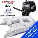 Annexe Plastimo Light Compacte et moteur Mercury 4 cv - Livraison offerte
