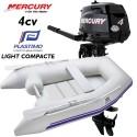 Annexe Plastimo Light Compacte et moteur Mercury 4 cv