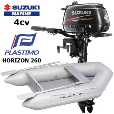 Pack annexe horizon 260 avec moteur hors-bord suzuki 4 cv