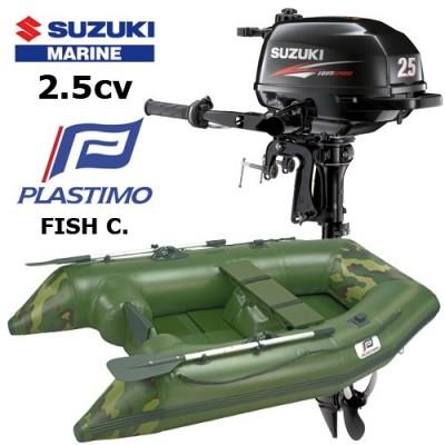 Pack annexe fish compacte avec moteur hors-bord suzuki 2.5 cv
