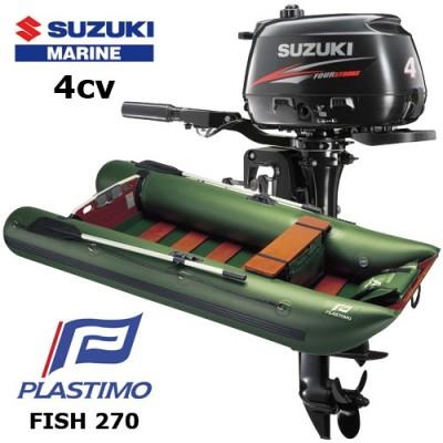 Pack annexe fish 270 avec moteur hors-bord suzuki 4 cv