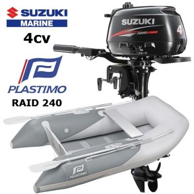 Pack annexe raid 240 avec moteur hors-bord suzuki 4 cv