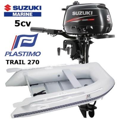 Pack annexe trail 270 avec moteur hors-bord suzuki 5 cv