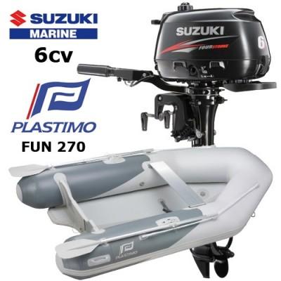 Pack annexe fun 270 avec moteur hors-bord suzuki 6 cv