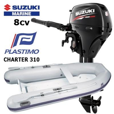 Pack annexe charter 310 avec moteur hors-bord suzuki 8 cv