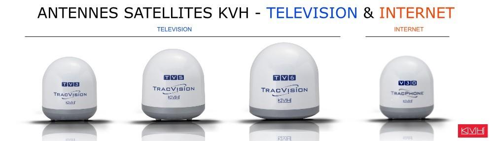 kvh france 2021, antennes satellites, nautisme télévision et internet