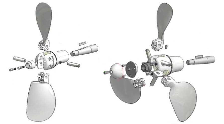 flexofold hélice repliable schémas