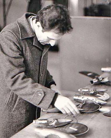 Max Bianchi, l'inventeur de l'hélice Max Prop, dans les années 70.