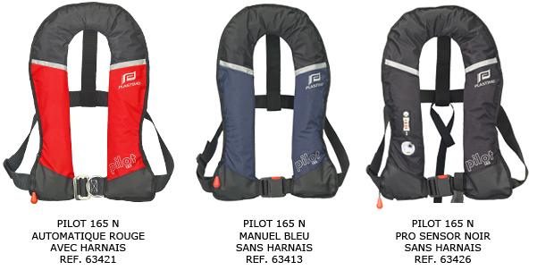 gilets plastimo pilot - couleurs disponibles