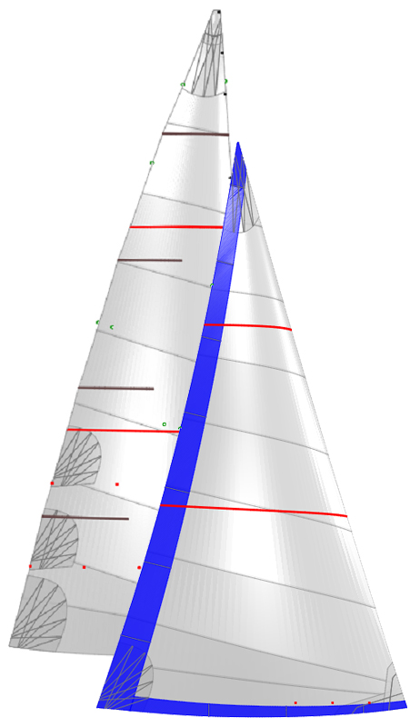 grand voile et genois websails voiles low cost