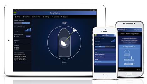 kvh tracvision interface utilisateur